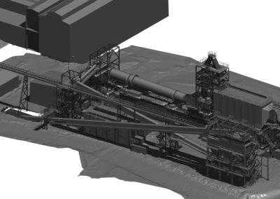 Levantamiento 3D Instalaciones y Equipos Proyecto Habilitación de Sistemas de Tratamiento de Gases. Codelco Chuquicamata